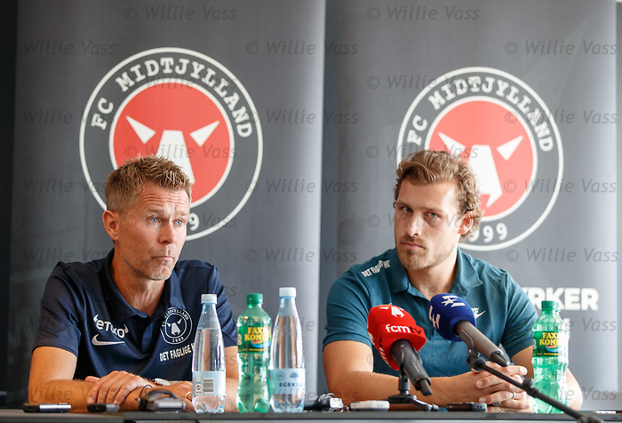 07.08.2019 FC Midtjylland and Rangers pressers: Manager Kenneth Andersen and captain Erik Sviatchenko