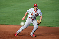 Palm Beach Cardinals first baseman Luke Voit (47) during a game against the Bradenton Marauders on June 23, 2014 at McKechnie Field in Bradenton, Florida.  Bradenton defeated Palm Beach 11-6.  (Mike Janes/Four Seam Images)