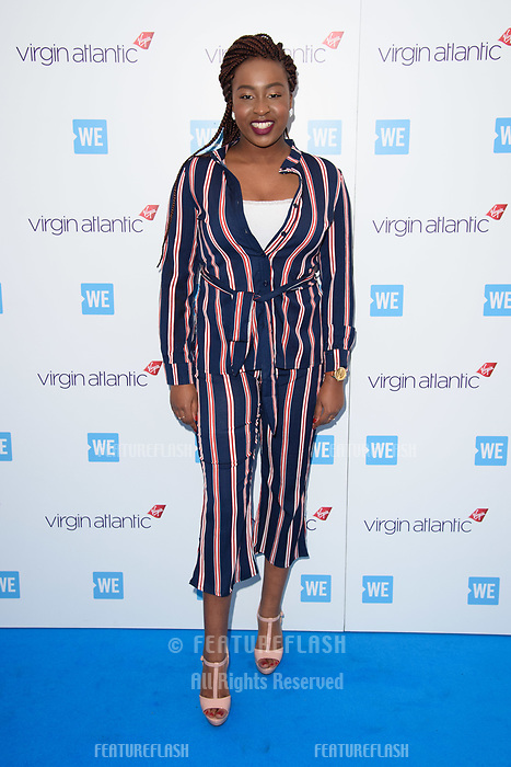 Sarah Ikumu arriving for WE Day 2018 at Wembley Arena, London, UK. <br /> 07 March  2018<br /> Picture: Steve Vas/Featureflash/SilverHub 0208 004 5359 sales@silverhubmedia.com