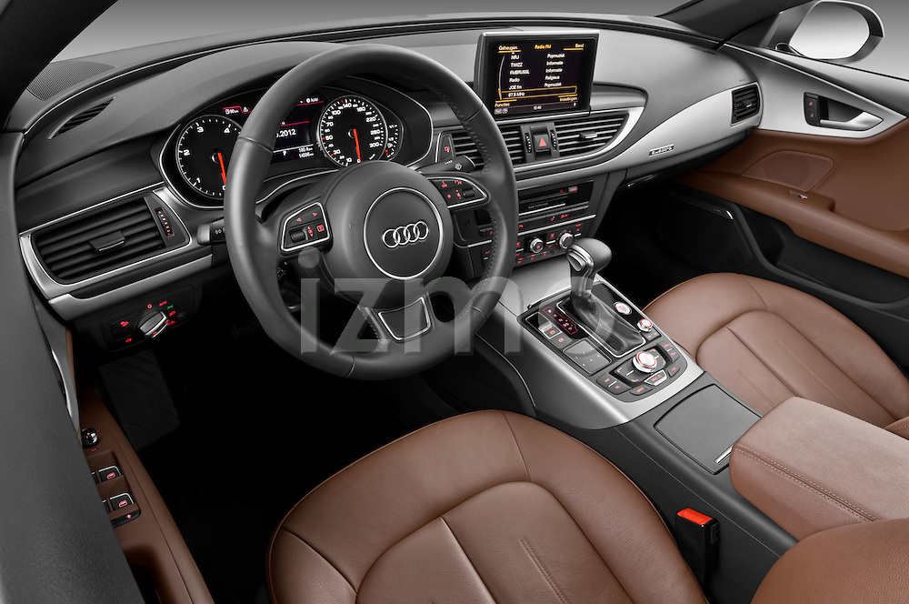High angle dashboard view of a 2013 Audi A7 Hatchback