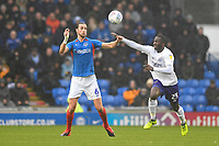 Christian Burgess of Portsmouth vies for the ball with Daniel Udoh of Shrewsbury Town during Portsmouth vs Shrewsbury Town, Sky Bet EFL League 1 Football at Fratton Park on 15th February 2020