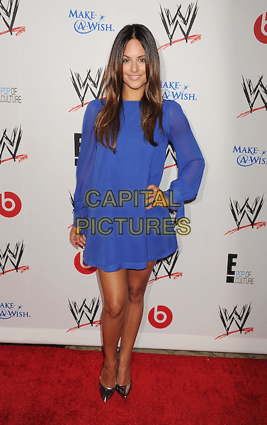 Pia Toscano<br /> WWE &amp; E! Entertainment's &quot;SuperStars For Hope&quot; supporting Make-A-Wish at The Beverly Hills Hotel in Beverly Hills, CA., USA.<br /> August 15th, 2013<br /> full length blue sheer dress hand on hip<br /> CAP/ROT/TM<br /> &copy;Tony Michaels/Roth Stock/Capital Pictures