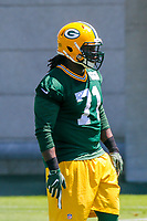 Green Bay Packers defensive tackle Izaah Lunsford (71) during an OTA on June 1, 2017 at Clark Hinkle Field in Green Bay, Wisconsin. (Brad Krause/Krause Sports Photography)
