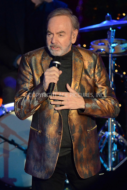 www.acepixs.com<br /> November 30, 2016  New York City<br /> <br /> Neil Diamond performing at The Rockefeller Center Christmas Tree lighting ceremony on November 30, 2016 in New York City.<br /> <br /> <br /> Credit: Kristin Callahan/ACE Pictures<br /> <br /> <br /> Tel: 646 769 0430<br /> Email: info@acepixs.com