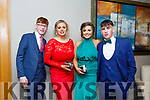 Enjoying the Castleisland Debs at Ballyroe Hotel on Friday were Kieran Coggins, Mary Healy, Siofra O'Connor and padraig o'connor