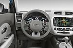 Car pictures of steering wheel view of a2015 KIA Soul EV Base 5 Door Wagon Steering Wheel