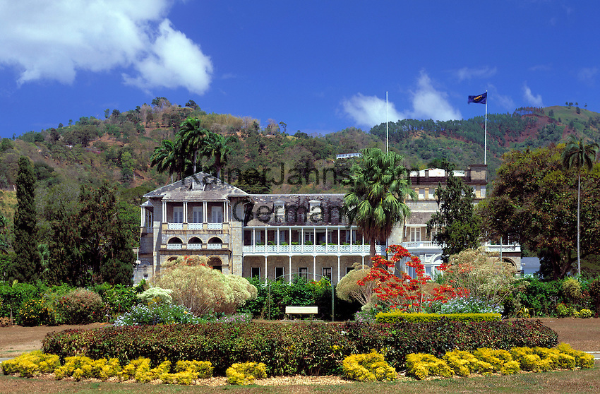 Trinidad & Tobago, Commonwealth, Trinidad, Port of Spain: President's House near Botanical Garden