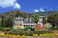 Trinidad & Tobago, Commonwealth, Trinidad, Port of Spain: President's House near Botanical Garden