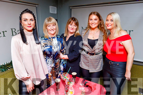 Ann Marie Healy, Liz O'Brien, Marie Lonegan, Claire O'Brien and Claire Cunningham enjoying Womens Christmas in the Munster Bar on Saturday.