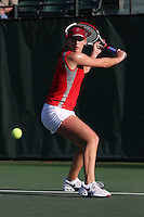 STANFORD, CA - FEBRUARY 19:  Lindsay Burdette of the Stanford Cardinal during Stanford's 5-2 win over the St. Mary's Gaels on February 19, 2009 at the Taube Family Tennis Stadium in Stanford, California.