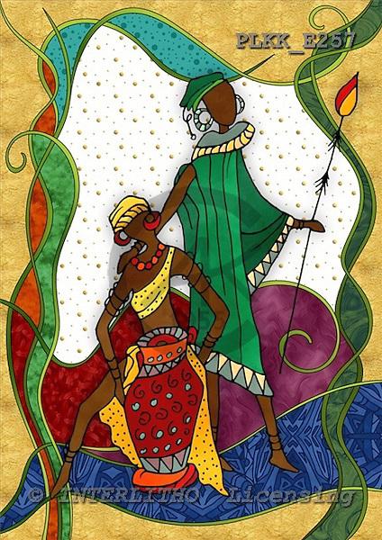 Kris, MODERN, ethnical, paintings, PLKKE257,#n# étnico, illustrations, pinturas