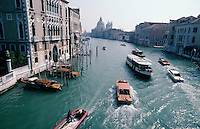 The Grand Canal, Venice, from the Accademia Bridge, looking towards Santa Maria della Salute.