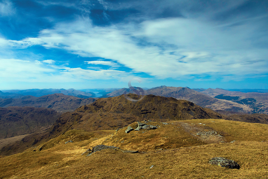 Looking towards Beinn Chabhair from An Caisteal above Crianlarich, Loch Lomond and the Trossachs National Park, Stirlingshire