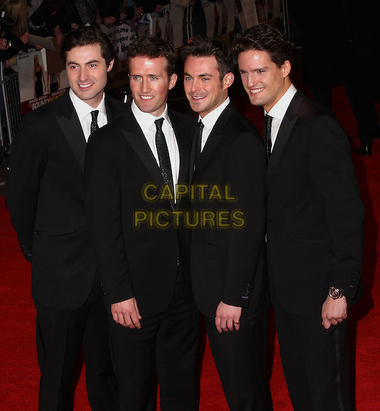 BLAKE.Attending 'The Bounty Hunter'  UK film premiere at the Vue West End,cinema Leicester Square, London, England, UK,.11th March 2010.arrivals half length black suit suits tie matching group band .CAP/JIL.©Jill Mayhew/Capital Pictures