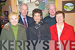 Mary Murphy, James Murphy, Margaret Gill, Gerry Murphy and Connie Sheehan enjoying the Beaufort Active Retired Christmas party in Kate Kearneys Cottage, Beaufort on Sunday.