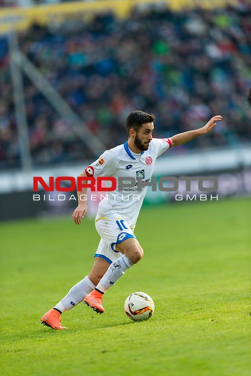 06.02.2016, HDI Arena,  Hannover, GER, 1.FBL, Hannover 96 vs 1. FSV Mainz 05, <br /> <br /> im Bild / picture shows<br /> Yunus Malli (FSV Mainz 05 #10) am Ball, <br /> <br /> Foto &copy; nordphoto / Ewert