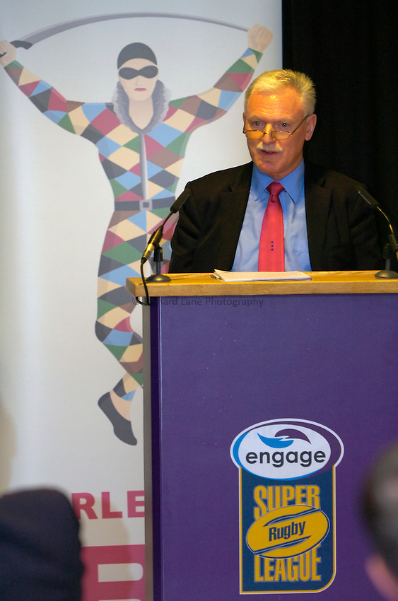 Photo: Richard Lane..Rugby League Engage Super League Launch. 07/02/2006. .Harlequins RL Chairman, Ian Lenegan.