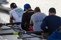 Oakland, Ca. -- March 28, 2017: Cal Men's Rowing prepares for their first meet at the Cal Boat House in Oakland, California.