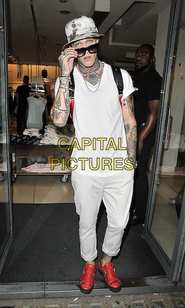 LONDON, ENGLAND - JULY 23: Jimmy Q attends the French Connection a/w 2015 new campaign launch party, French Connection, Oxford St., on Wednesday July 23, 2014 in London, England, UK. <br /> CAP/CAN<br /> &copy;Can Nguyen/Capital Pictures
