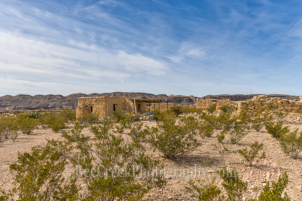 Terlingua ghost town ruins. These are a few of the ruins in the ara that gave it ghost town name.  Lately there have been some vandals trying to destroy these ruins and the people are not too happy about it.