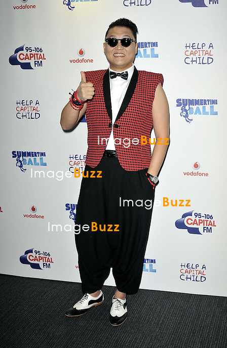 PSY at the 2013. Capital FM's Summertime Ball held at Wembley Stadium, London, on June 9, 2013.