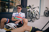 Daryl Impey (ZAF/Mitchelton-Scott)<br /> <br /> D-1: last preperations 1 day before the start of the race<br /> <br /> Team Mitchelton-Scott going for a coffee-ride<br /> <br /> Le Grand Départ 2018<br /> 105th Tour de France 2018<br /> ©kramon