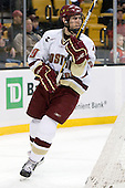Chris Kreider (BC - 19) - The Boston College Eagles defeated the Harvard University Crimson 6-0 on Monday, February 1, 2010, in the first round of the 2010 Beanpot at the TD Garden in Boston, Massachusetts.