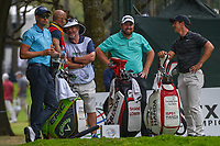 Shane Lowry (IRL) and Thorbjorn Olesen (DEN) share a laugh on the tee on 7 during round 3 of the World Golf Championships, Mexico, Club De Golf Chapultepec, Mexico City, Mexico. 2/23/2019.<br /> Picture: Golffile | Ken Murray<br /> <br /> <br /> All photo usage must carry mandatory copyright credit (© Golffile | Ken Murray)