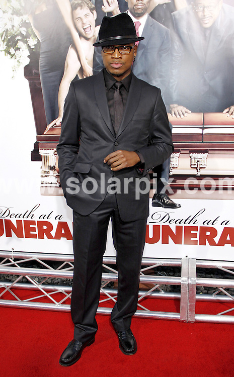 **ALL ROUND PICTURES FROM SOLARPIX.COM**.**SYNDICATION RIGHTS FOR UK, AUSTRALIA, DENMARK, PORTUGAL, S. AFRICA, SPAIN & DUBAI (U.A.E) & ASIA (EXCLUDING JAPAN) ONLY**.Death At A Funeral World Premiere - Arrivals, Pacific's Cinerama Dome, Hollywood, CA, USA, 12 April 2010.This pic: Ne-Yo.JOB REF: 11067   PHZ gabber   DATE: 12_04_2010.**MUST CREDIT SOLARPIX.COM OR DOUBLE FEE WILL BE CHARGED**.**MUST NOTIFY SOLARPIX OF ONLINE USAGE**.**CALL US ON: +34 952 811 768 or LOW RATE FROM UK 0844 617 7637**