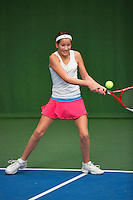 20131201,Netherlands, Almere,  National Tennis Center, Tennis, Winter Youth Circuit, Tess Menten    <br /> Photo: Henk Koster