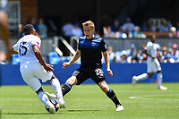 SAN JOSE, CA - JUNE 8: Jacori Hayes #15, Tommy Thompson #22 during a game between FC Dallas and San Jose Earthquakes at Avaya Stadium on June 8, 2019 in San Jose, California.