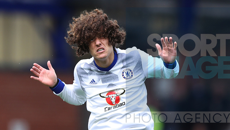 David Luiz of Chelsea during the English Premier League match at Goodison Park , Liverpool. Picture date: April 30th, 2017. Photo credit should read: Lynne Cameron/Sportimage