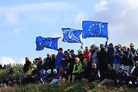 Support for Team Europe around the 7th green during Day 1 Fourball at the Solheim Cup 2019, Gleneagles Golf CLub, Auchterarder, Perthshire, Scotland. 13/09/2019.<br /> Picture Thos Caffrey / Golffile.ie<br /> <br /> All photo usage must carry mandatory copyright credit (© Golffile | Thos Caffrey)