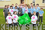 Third class pupils from Cullina National School, Beaufort,  pictured with some of the litter they collected on the  roadsides as part of the Beaufort Tidy Towns, on Monday...................