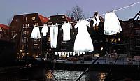 Nederland - Amsterdam- 2019  . Amsterdam Light Festival. Neighborhood van Sergei Kim.    Foto Berlinda van Dam / Hollandse Hoogtre