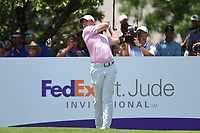 Rory McIlroy (NIR) watches his tee shot on 13 during round 2 of the WGC FedEx St. Jude Invitational, TPC Southwind, Memphis, Tennessee, USA. 7/26/2019.<br /> Picture Ken Murray / Golffile.ie<br /> <br /> All photo usage must carry mandatory copyright credit (© Golffile | Ken Murray)