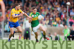 Stephen O'Brien Kerry in action against Dean Ryan Clare in the Munster Senior Football Championship at Fitzgerald Stadium in Killarney on Sunday.