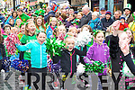 Girls from Scorchers gymnastics screaming with joy at the Killarney St Patricks day parade on Monday