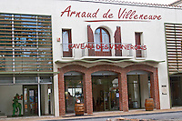Wine shop. Arnaud de Villeneuve cooperative. Rivesaltes town, Roussillon, France