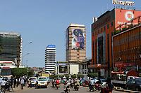 UGANDA, Kampala, Bank of Baroda in Kampala Road in city center
