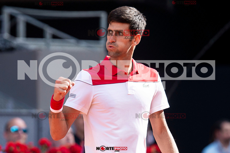 Serbian Novak Djokovic during Mutua Madrid Open 2018 at Caja Magica in Madrid, Spain. May 07, 2018. (ALTERPHOTOS/Borja B.Hojas) /NortePhoto.com