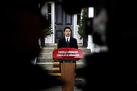 PM Trudeau speaks with media during his isolation at Rideau Cottage. March 20, 2020.