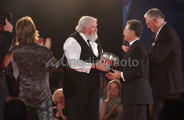 18 October 2005 - Nashville, Tennessee - Charlie Daniels with Travis Tritt and Montgomery Gentry. 2005 BMI Awards held at BMI Nashville Headquarters. Photo Credit: Laura Farr/AdMedia