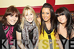 Greeting 2010 in McHale's Stretford End Bar, Causeway on New Year's Eve were l/r Martina Kenny, Stephanie McCarthy, Lisa Sheehan and Noelle O'Connor............................................................................................................................................................................................................................................................................... ............