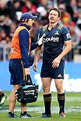 June 3rd 2017, AMI Stadium, Christchurch, New Zealand; Super Rugby; Crusaders versus Highlanders;  Ben Smith of the Highlanders leaves the field. Super Rugby match