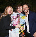 Kelli O'Hara, Jennifer Allen and Steven Pasquale during the Actor's Equity Opening Night Gypsy Robe Ceremony honoring Jennifer Allen for 'The Bridges of Madison County'  at the Gerald Schoenfeld Theatre on February 20, 2014 in New York City.
