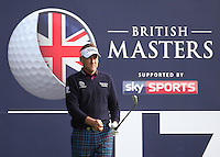 Tournament host Ian Poulter (ENG) in action during the Final Round of the British Masters 2015 supported by SkySports played on the Marquess Course at Woburn Golf Club, Little Brickhill, Milton Keynes, England.  11/10/2015. Picture: Golffile | David Lloyd<br /> <br /> All photos usage must carry mandatory copyright credit (&copy; Golffile | David Lloyd)