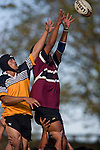 Peter Wilson would appear to be about claim lineout ball dispite the efforts of Thomas Taoho. CMRFU Counties Power Cup Game of the Week between Te Kauwhata & Puni played at Te Kauwhata on Saturday May the 3rd, 2008..Te Kauwhata led 5 - 0 at halftime & went on to win 29 - 0.