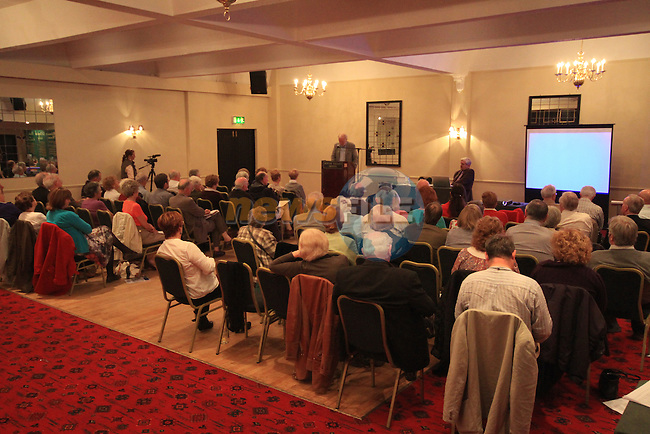 Prof. Gary Owens gives a speech in the Boyne Valley Hotel for the John Boyle O Reilly Autumn school with the Old Drogheda Society..Picture: Shane Maguire / www.newsfile.ie.