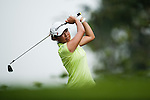 CHON BURI, THAILAND - FEBRUARY 16:  Mina Harigae of USA tees off on the 12th hole during day one of the LPGA Thailand at Siam Country Club on February 16, 2012 in Chon Buri, Thailand.  Photo by Victor Fraile / The Power of Sport Images